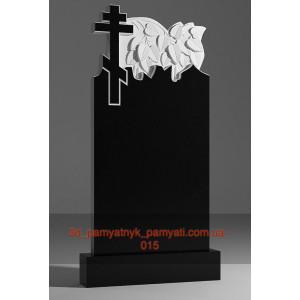 Купить резной памятник гранитный с восьмиконечным крестом (120х60)