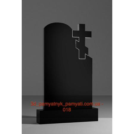 Резной памятник с волной и крестом (120х60)