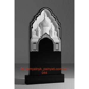 Купить резной памятник гранитный с церковью (120х60)