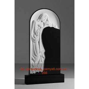 Купить резной памятник гранитный с девой Марией (120х60)