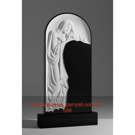 Резной памятник гранитный с девой Марией (120х60)