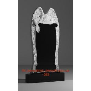 Купить резной памятник гранитный с ангелом на памятнике (120х60)