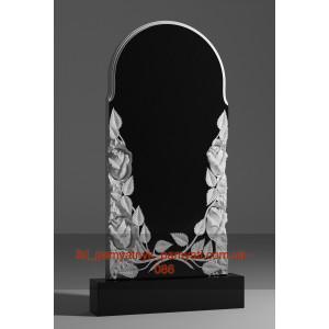 Купить резной памятник гранитный розы с двух сторон и арка (120х60)