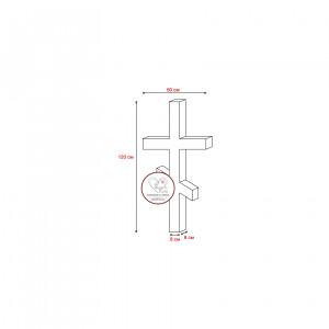 Купить гранитный крест 120х60х8 (две перемычки)