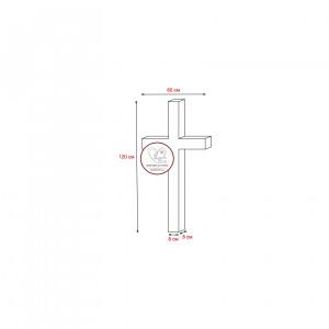 Купить гранитный крест 120х60х8 (одна перемычка)