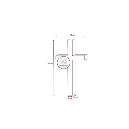 Гранитный крест 130х70 (одна перемычка)