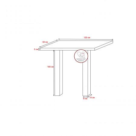 Гранитный стол 120х50х5