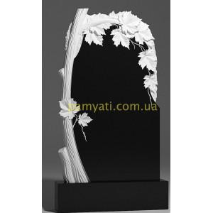 Купить резной памятник гранитный клен с веткой над памятником (120х60)