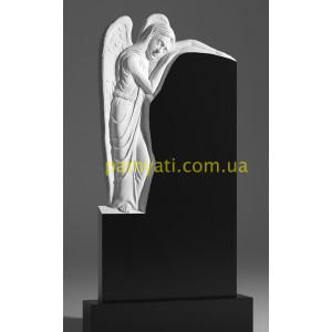 Купить резной памятник гранитный с ангел обнял памятник сверху (120х60)